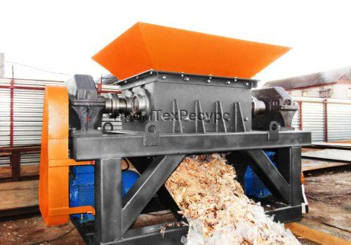 Шредер универсальный измельчитель отходов с элементами металла.